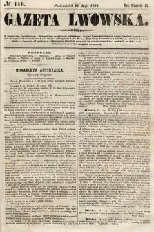 Gazeta Lwowska. 1855, nr116