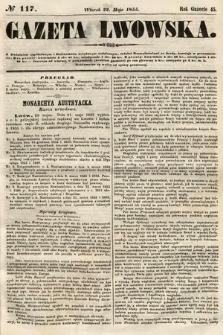 Gazeta Lwowska. 1855, nr117