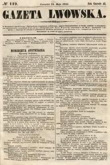 Gazeta Lwowska. 1855, nr119