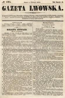 Gazeta Lwowska. 1855, nr125