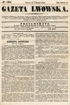 Gazeta Lwowska. 1855, nr133