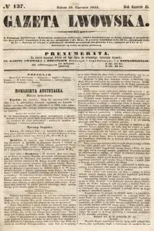 Gazeta Lwowska. 1855, nr137