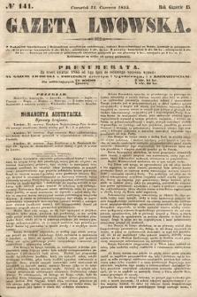 Gazeta Lwowska. 1855, nr141