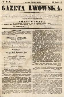 Gazeta Lwowska. 1855, nr142