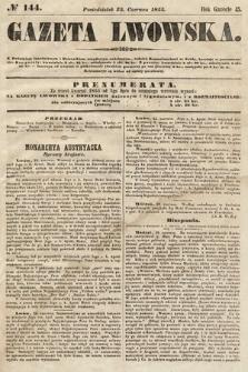 Gazeta Lwowska. 1855, nr144