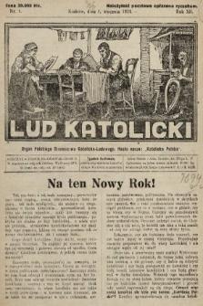 Lud Katolicki : organ Polskiego Stronnictwa Katolicko-Ludowego. 1924, nr1