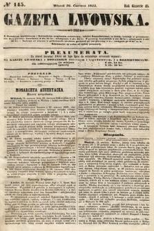 Gazeta Lwowska. 1855, nr145