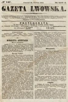 Gazeta Lwowska. 1855, nr147
