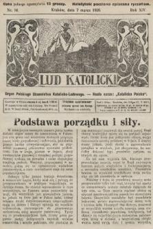 Lud Katolicki : organ Polskiego Stronnictwa Katolicko-Ludowego. 1926, nr10