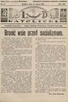 Lud Katolicki : tygodnik ilustrowany : organ Polskiego Stronnictwa Katolicko-Ludowego. 1929, nr12