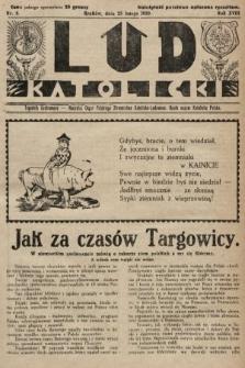 Lud Katolicki : tygodnik ilustrowany : naczelny ogran Polskiego Stronnictwa Katolicko-Ludowego. 1930, nr8