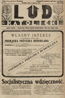 Lud Katolicki : tygodnik ilustrowany : naczelny ogran Polskiego Stronnictwa Katolicko-Ludowego. 1930, nr23