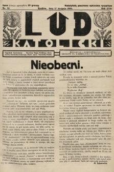 Lud Katolicki : tygodnik ilustrowany : naczelny ogran Polskiego Stronnictwa Katolicko-Ludowego. 1930, nr33