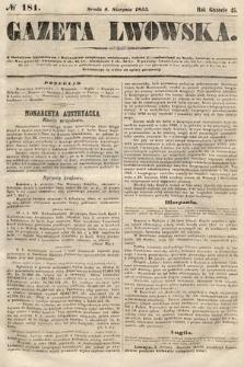 Gazeta Lwowska. 1855, nr181