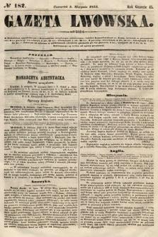 Gazeta Lwowska. 1855, nr182