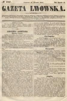 Gazeta Lwowska. 1855, nr187