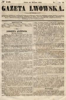 Gazeta Lwowska. 1855, nr189