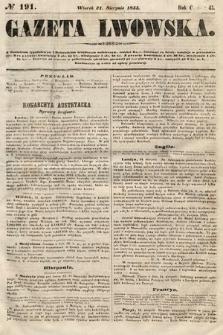 Gazeta Lwowska. 1855, nr191