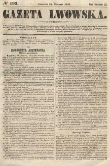 Gazeta Lwowska. 1855, nr193