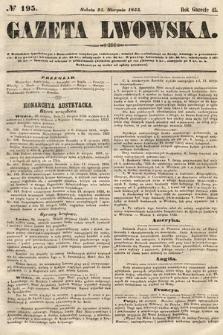 Gazeta Lwowska. 1855, nr195