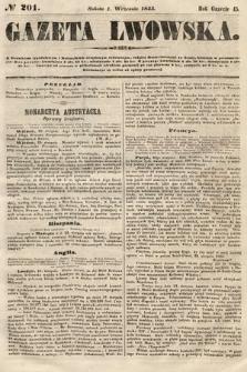 Gazeta Lwowska. 1855, nr201