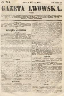 Gazeta Lwowska. 1855, nr203