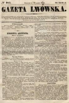 Gazeta Lwowska. 1855, nr205