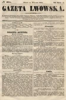 Gazeta Lwowska. 1855, nr208