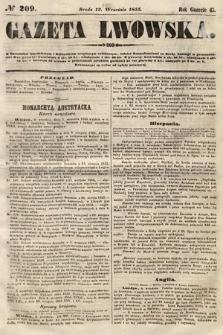 Gazeta Lwowska. 1855, nr209