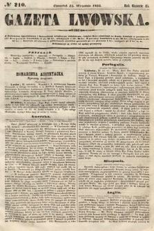 Gazeta Lwowska. 1855, nr210