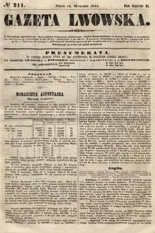 Gazeta Lwowska. 1855, nr211