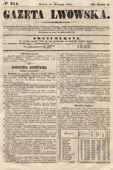 Gazeta Lwowska. 1855, nr214