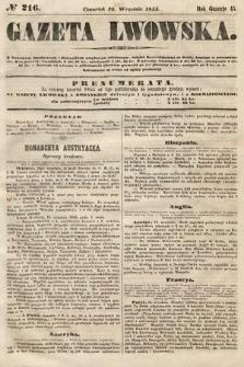 Gazeta Lwowska. 1855, nr216