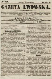 Gazeta Lwowska. 1855, nr217