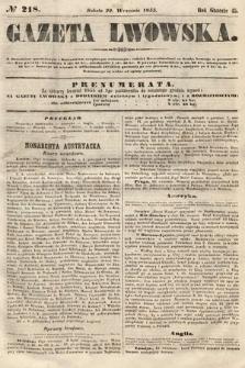 Gazeta Lwowska. 1855, nr218