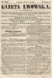 Gazeta Lwowska. 1855, nr219