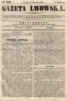 Gazeta Lwowska. 1855, nr222