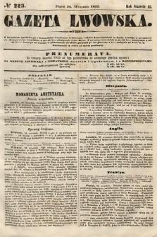 Gazeta Lwowska. 1855, nr223