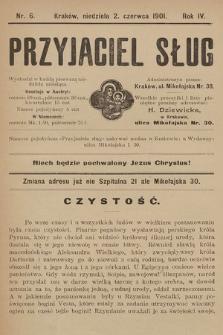 """Przyjaciel Sług : miesięczny dodatek do czasopisma """"Grzmot"""". 1901, nr 6"""