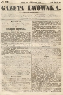 Gazeta Lwowska. 1855, nr241