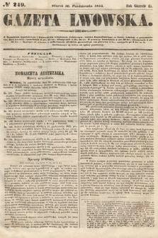Gazeta Lwowska. 1855, nr249