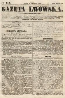 Gazeta Lwowska. 1855, nr252