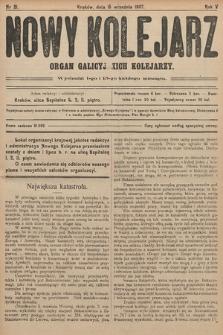 Nowy Kolejarz : organ galicyjskich kolejarzy. 1907, nr 21