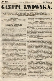 Gazeta Lwowska. 1855, nr261