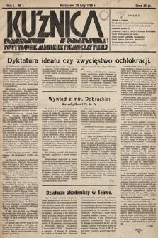 Kuźnica : dwutygodnik młodzieży demokratycznej. 1928, nr1