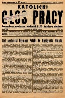 Katolicki Głos Pracy : czasopismo społeczne. 1932, nr10