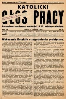 Katolicki Głos Pracy : czasopismo społeczne. 1932, nr11