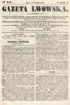 Gazeta Lwowska. 1855, nr286