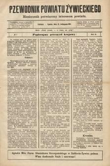 Przewodnik Powiatu Żywieckiego : miesięcznik poświęcony interesom powiatu. R.2, 1901, nr7