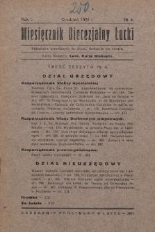 Miesięcznik Diecezjalny Łucki. 1926, nr 4